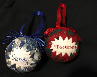 Ornaments, hanging ornaments, decorations, holiday decorations, ornament, personalized, gift, craft, cross stitch