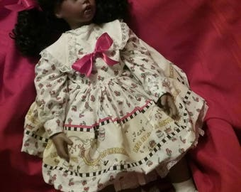 31 inch handmade bisque/porcelain doll in very beautiful condition