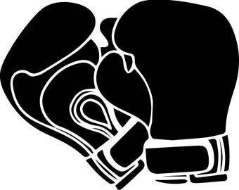 Boxing Gloves Fight Protection Sport Boxer Ring Punch Competition  .SVG .EPS .PNG Vector Space Clipart Digital Download Circuit Cut Cutting