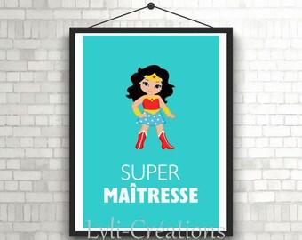 """Poster """"Super teacher"""""""