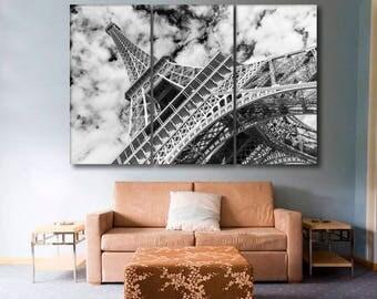 Eiffel tower, Paris. Black and white
