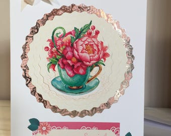 Handmade Greetings Card, To Someone Special, Decoupage