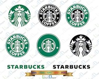 Starbucks SVG Starbucks DXF Starbucks logo Starbucks ornament Starbucks Coffee Starbucks PNG svg eps dxf cut files for silhouette cricut