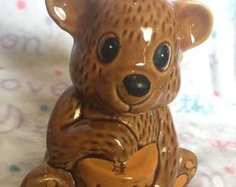 Honey Jar Bear with honey dipper