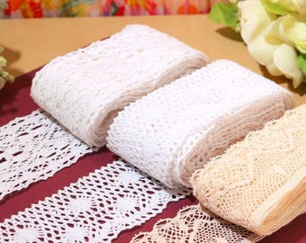 """20 yards Cotton Lace Trim 3.5-7cm Mixed Style  fabric lace accessories , Wholesale-""""008"""""""