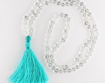 Crystal 108 Japa Mala / Yoga jewelry for mantra and meditation