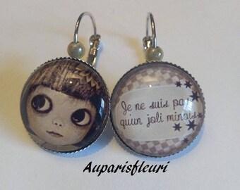 """Silver earrings """"big eyes"""""""