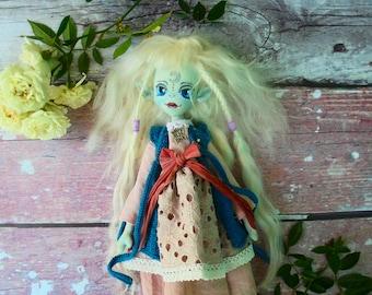 Handmade textile doll. Cloth doll. Rag doll