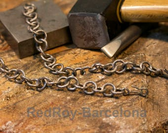 Original handcrafted titanium chain with a medieval aspect