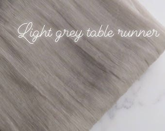 silk runner// table runner// gray silk table runner// silk table runner// silk chiffon table runner// gray table runner// wedding