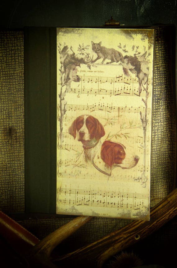 "Hunt hunting custom journal ""hound dog"" notebook Huntress Hunter hunting hunting hunting wood"