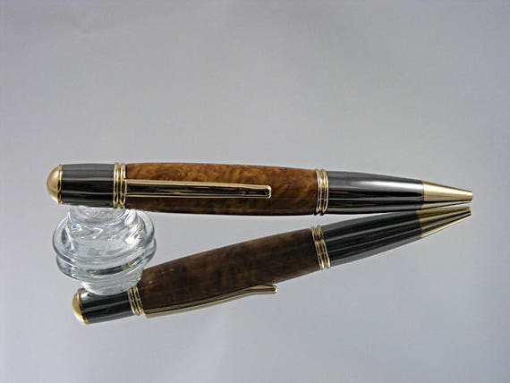 Ink Pen in Gatsby Style in Gold with Gun Metal and Burl