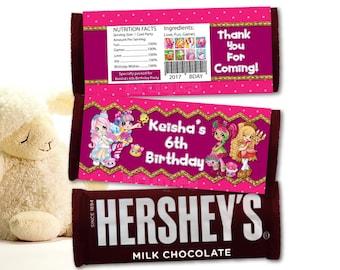 Personalized Shopkins Chocolate Bar Wrapper Hershey's Hersheys Milk Chocolate Wrapper Candy Bar Wrapper Birthday Party DIY - Digital File