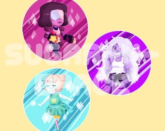 Steven Universe - Crystal Gem 2.25in Pinback Buttons!