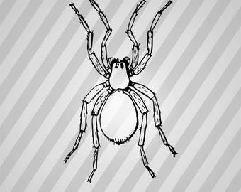 Spider Silhouette - Svg Dxf Eps Silhouette Rld RDWorks Pdf Png AI Files Digital Cut Vector File Svg File Cricut Laser Cut