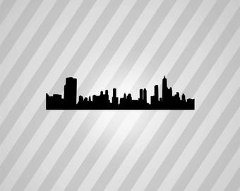 Skyline 2 Silhouette -  Svg Dxf Eps Rld Rdworks Pdf Png Ai Files Digital Cut Vector File Svg File Cricut Laser Cut