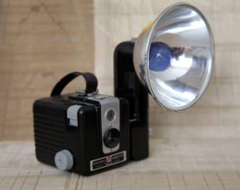 Vintage Kodak Brownie Hawkeye Flash Camera with original bulb included.  Not tested.