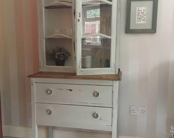 Farmhouse hutch bookcase cabinet