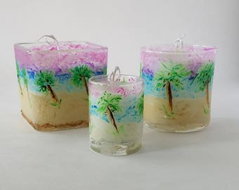Hand Painted Candles! - Coconut Lime