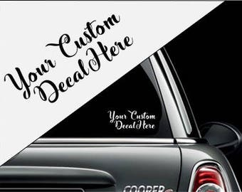 Make Your Own Decal Etsy - Custom car decal maker near me