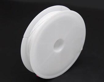 1 x reel 50 M Fil white stainless steel Tiger tail 0.38 mm