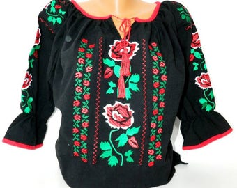 Blouse with traditional embroidery