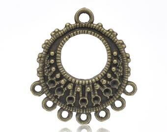 set of 10 connectors chandelier bronze 26 X 24 mm