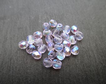 Faceted 4 mm: 30 alexandrite beads Bohemian