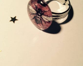 """Beautiful ring adjustable silver Metal Vintage """"Insects"""""""