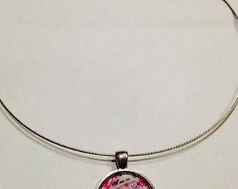 Necklace pendant 25 mm Cup of Tea Paris Choker Cable
