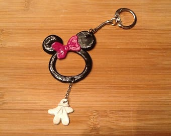 License polymer clay keychain