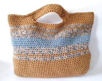 handmade autumn colors handbag - wool