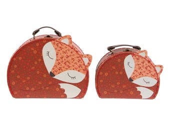 2 small, fox, 23.5 cm, ANGUS THE FOX, suitcases