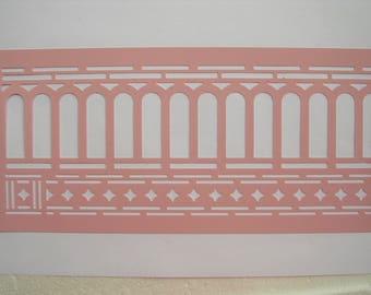 NEW STENCIL ROSE 35 x 13 cm: arches