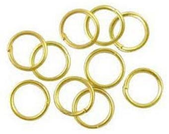 lot 100 rings yellow gold finish jewelry ring 0.8 mm new