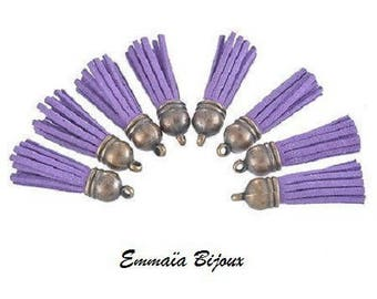 Purple tassel suede 39 x 10 mm