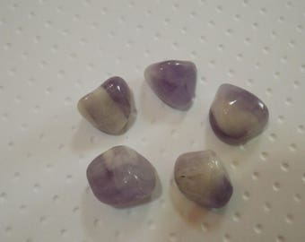 Améthyste Chevron - Lot de 5 pierres naturelles minérales pour confection en tout