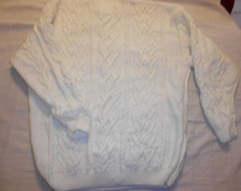 Men size 50 white Irish sweater
