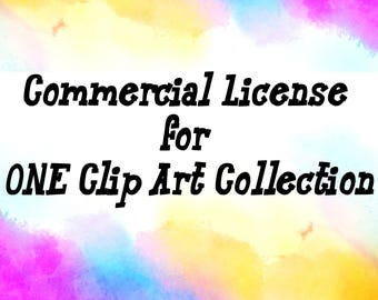 Commercial License for ONE Clip Art Collection - clip art, digital clipart, extended license