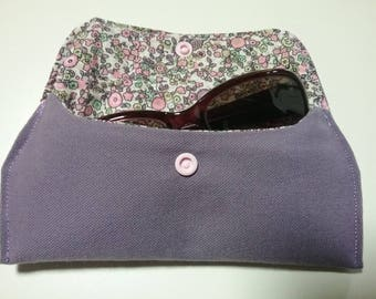 Purple and quilted cotton glasses case
