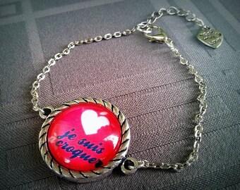 I am eat cabochon glass 20mm antique silver metal bracelet