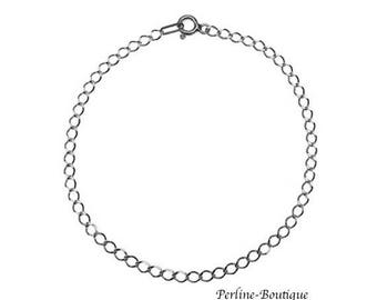 Silver 925 18 cm rolo link bracelet