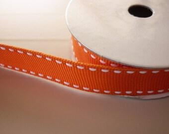 orange grosgrain Ribbon 1 metre