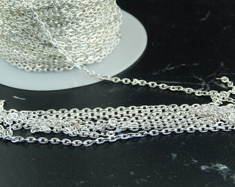 10 meters of silver metal mesh chain