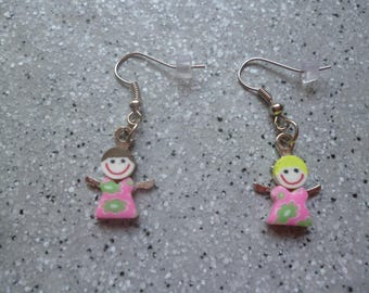 Beautiful earrings children Fimo