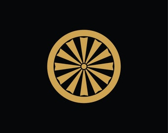 Sticker Kamon Sun (ref KA19).