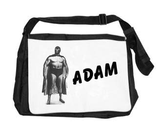 Personalized with name wrestler shoulder bag
