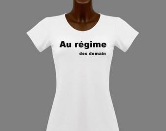 T-shirt women white humor plan tomorrow