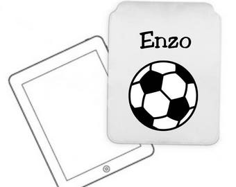 Cover for tablet pc football personalized with name