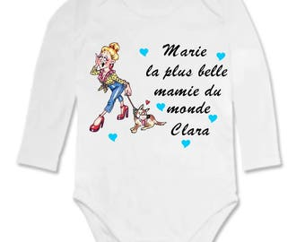 Bodysuit the loveliest Grandma... personalized with name